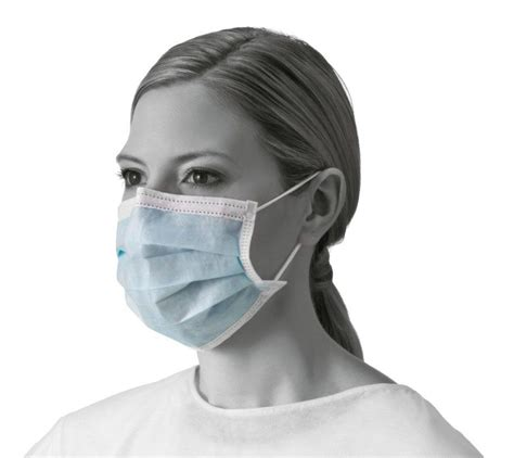 Masker Earloop kendall mist contoured dust mask white box of 120