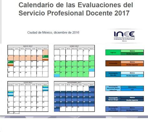 calendario de evaluaciones docentes 2016 del inee calendario de las evaluaciones del servicio profesional