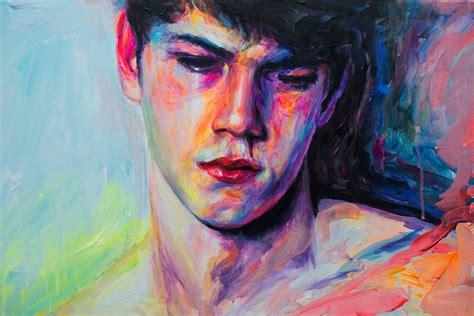 painting boy saatchi the sad boy painting by oleksandr balbyshev