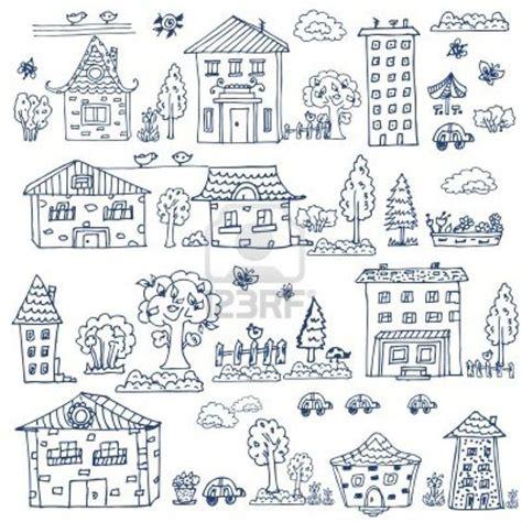 doodlebug house on doodle set of house tree stock photo 15886211 zeichnen