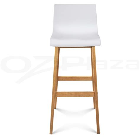 wooden white bar stools 4x oak wood bar stools wooden dining chairs kitchen side plywood white 3608 ebay