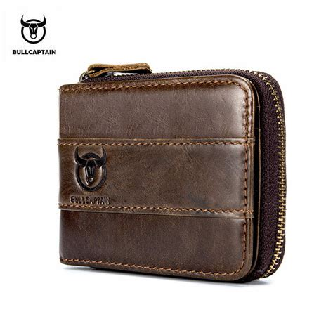 Cowhide Wallet - bull captain new wallet cowhide coin purse slim rfid