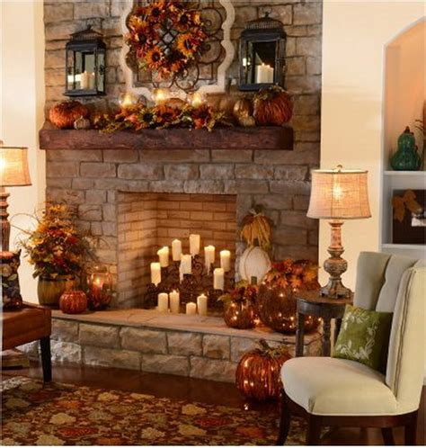 fall fireplace decor stylish thanksgiving decor items to create a cozy