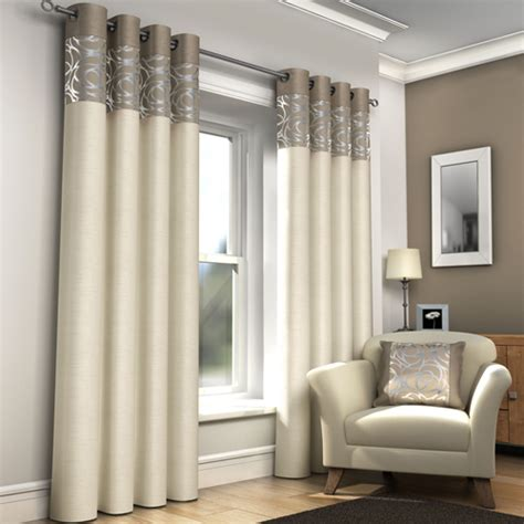 cream and beige curtains skye ring top lined eyelet curtains cream tony s