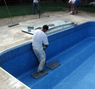 Inground pool liner replacement DIY