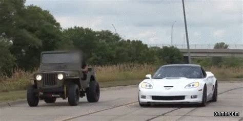 Jeep Vs Corvette by Vs Gifs Find On Giphy