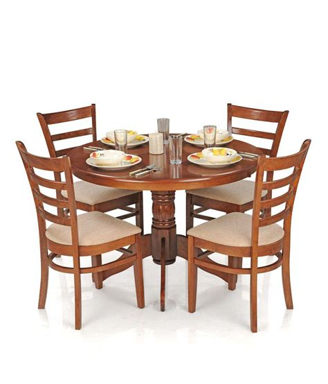 Dining Table Sets For 4 by Royaloak Dining Table Set With 4 Chairs Solid Wood
