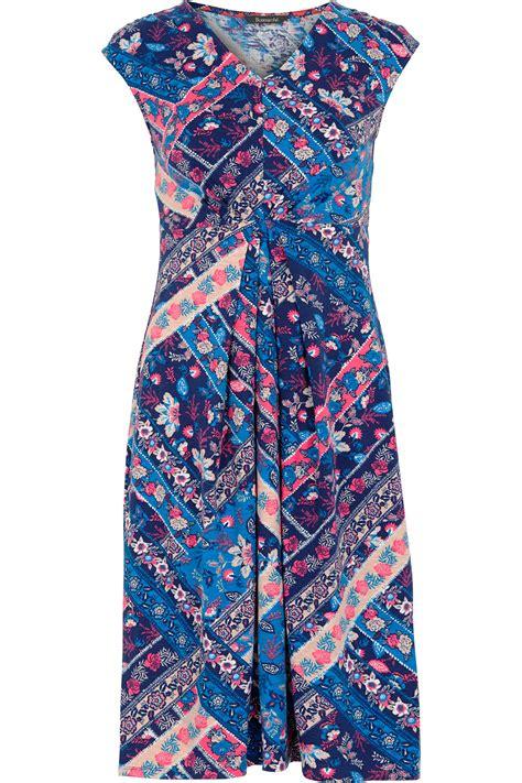 Patchwork Print - patchwork print cotton dress