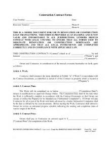 free construction forms templates best photos of exle of a contract form mortgage