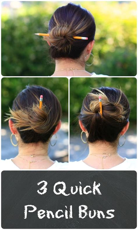 college bun hairstyles pencil buns cute girls hairstyles cute girls