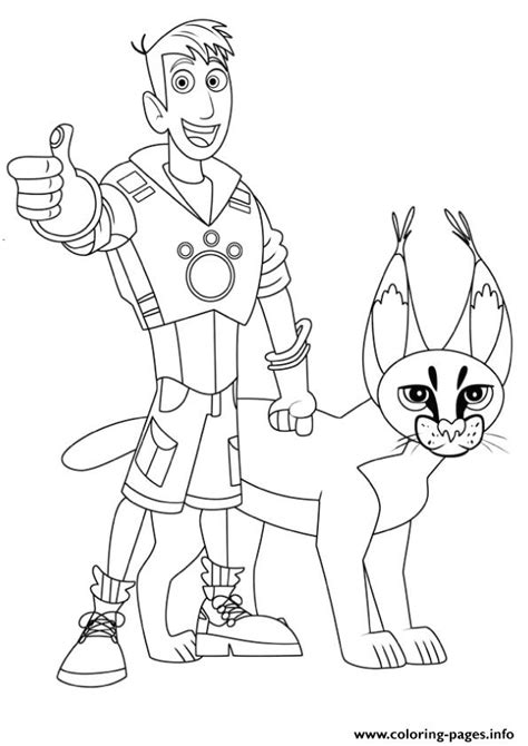 coloring page kratts kratts martin and coloring pages coloring