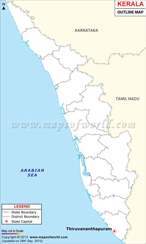 Kerala Outline Map