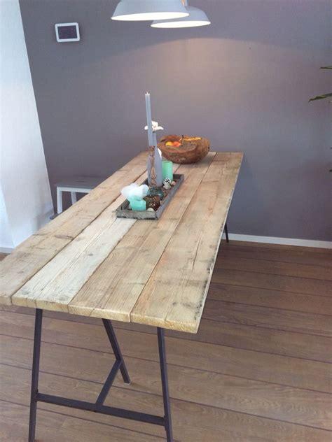 salontafel ikea tweedehands nieuwe tafel steigerhout en ikea schragen steigerhout