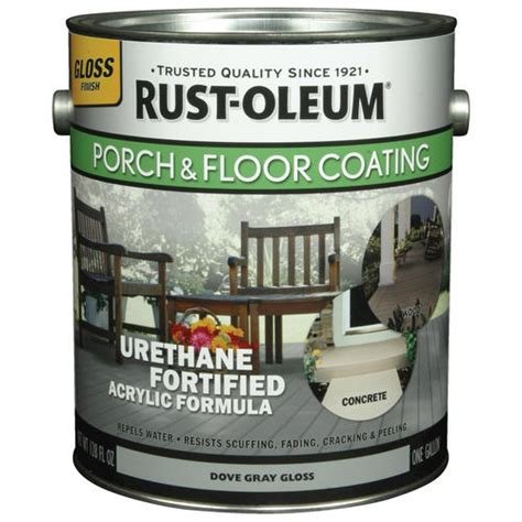 rust oleum 174 gloss dove gray porch floor coating 1 gal at menards 174