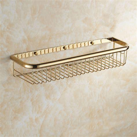 45cm rectangle wire brass single metal bathroom hanging