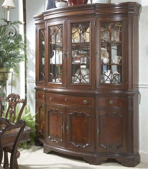 china cabinets with glass doors traditional china buffet hutch with glass doors and