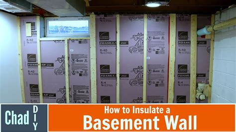 how to insulate a basement wall youtube