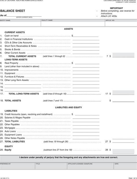 Balance Sheet Template Free by Balance Sheet Template Free Premium Templates