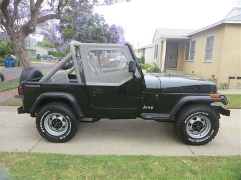 jeep wrangler 1991 4x4 4 0l 6 cylinder 5 speed only 59 393 original miles