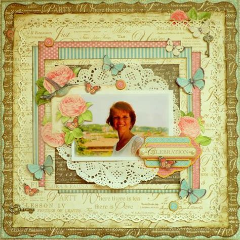 scrapbook layout tutorials let s celebrate this great week with a beautiful