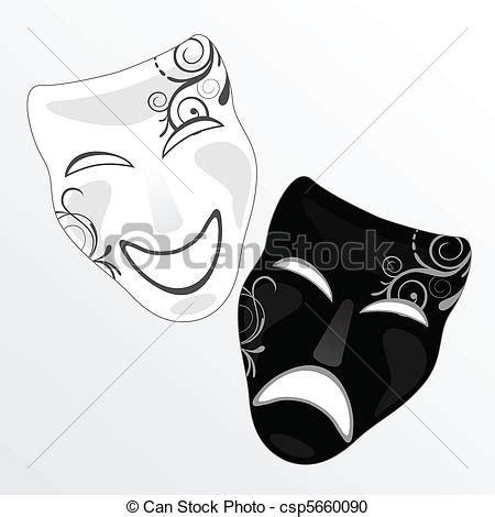 imagenes en blanco y negro de teatro vector clip art de m 225 scara carnaval vector ilustraci 243 n