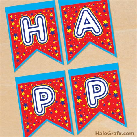 printable happy  year banner
