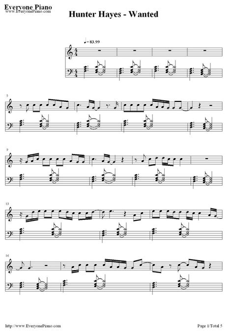 piano tutorial wanted hunter hayes 272 best images about music on pinterest flute sheet