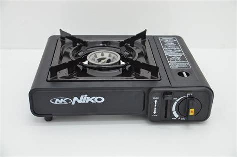 Kompor Gas Niko Visually jual kompor gas portable niko 2in1 bisa gas kaleng bisa