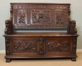 antique oak settle bench antique victorian oak settle bench hall seat antiques