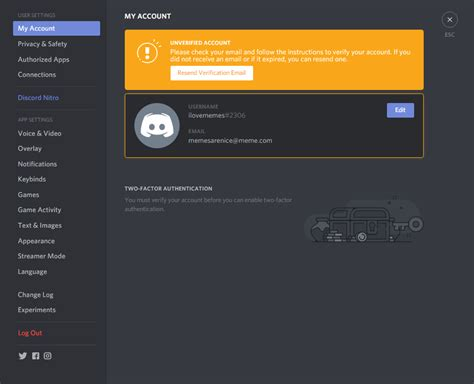 discord login resending verification email discord