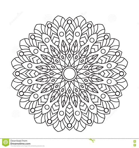 black and white round pattern ornamental black lace mandala cartoon vector