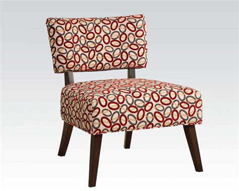 Fabric Accent Chair Contemporary Fabric Accent Chair By Acme Furniture Ac59074