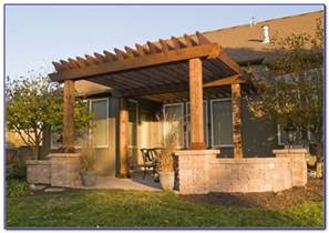 Pergola on deck attached to house decks home decorating ideas