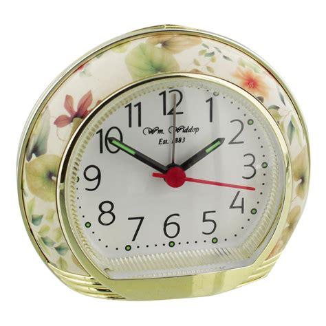 wmwiddop floral flower alarm clock  light snooze silent sweep movement ebay