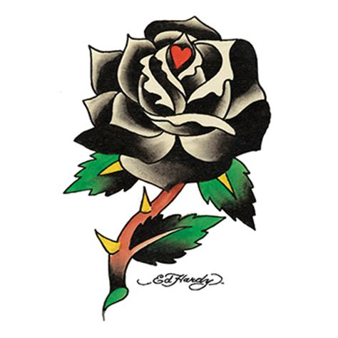 ed hardy rose tattoo imprinted ed hardy black temporary usimprints