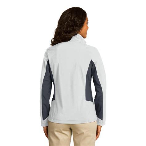 Jacket Marsmaello 1 port authority l318 colorblock soft shell jacket marshmallow battleship grey