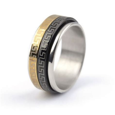 Ringe Gã Nstig by Herre Ring Sort Guld Ringe