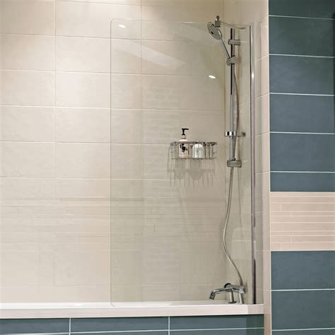 fixed bath shower screens lumin8 shower enclosures showers
