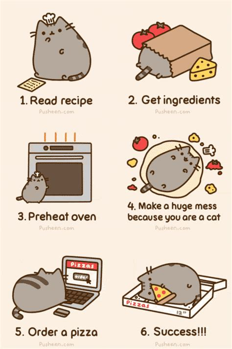 Pusheen Cat Meme - how to make a pizza pusheen know your meme