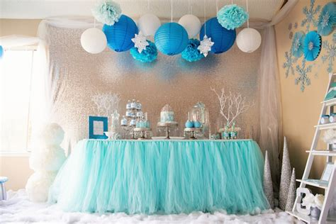 frozen birthday theme decorations frozen birthday via kara s ideas