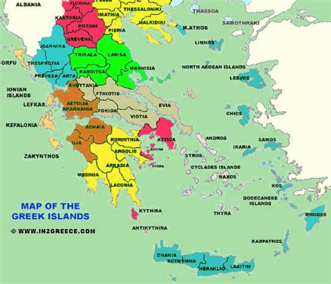 map of greece islands map of the islands of greece