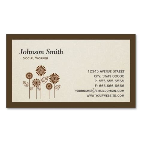 symbols business card templates social worker tree symbol