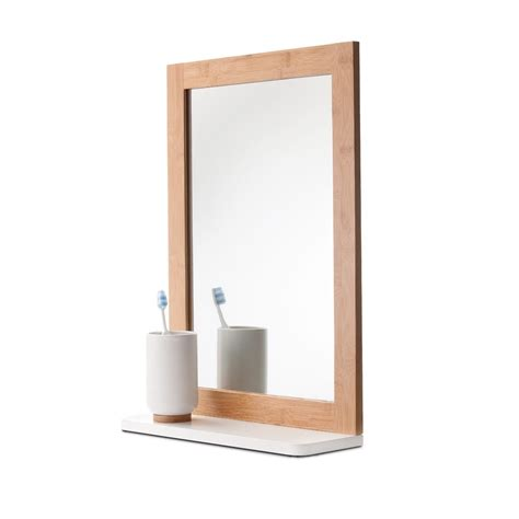 mirror with shelves bamboo mirror with shelf kmart