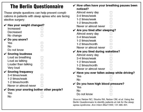 printable berlin questionnaire post op complications result from sleep apnea 2001 11 01