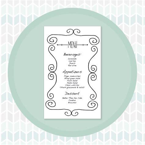 how to make menu cards larissa designs free bridal shower printable menu card