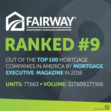 fairway ranked top mortgage company by mortgage executive