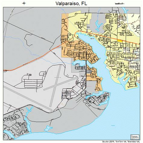 valparaiso florida street map 1273675