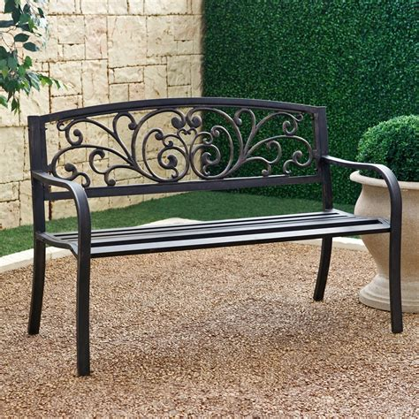 metal garden seats and benches have to have it coral coast metal scrolling hearts curved