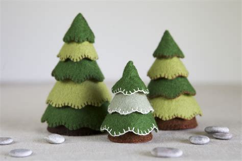 wigjig christmas tree pattern felt tree sewing pattern diy embroidery sewing pattern