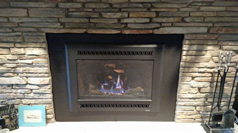 Inside Outside Gas Fireplace by Fireplaces Stoves Zillges Spa Landscape Fireplace